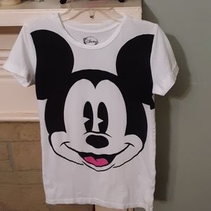 Disney Mickey Face Tee Sz M